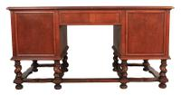 Walnut Leather Top Desk in the Style of William & Mary (11 of 13)
