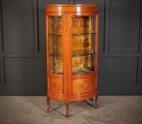 Fine Marquetry Inlaid Satinwood Cabinet by Jas Shoolbred (6 of 14)