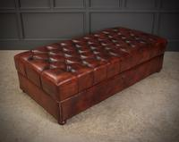 Very Large 18th Century Buttoned Leather Ottoman (6 of 16)