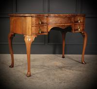 Queen Anne Style Shaped Walnut Dressing Table c.1920 (2 of 11)