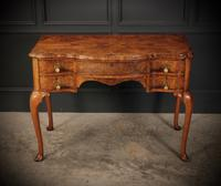 Queen Anne Style Shaped Walnut Dressing Table c.1920 (4 of 11)