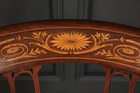 Mahogany Marquetry Inlaid Revolving Harpists Chair (4 of 12)