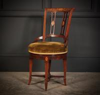 Mahogany Marquetry Inlaid Revolving Harpists Chair (6 of 12)