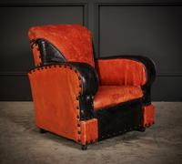 Rare Art Deco Style Leather Childs Club Chair (2 of 8)