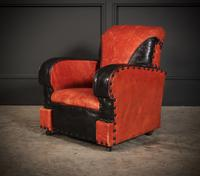 Rare Art Deco Style Leather Childs Club Chair (4 of 8)