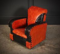 Rare Art Deco Style Leather Childs Club Chair (5 of 8)