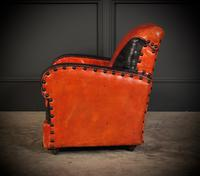 Rare Art Deco Style Leather Childs Club Chair (6 of 8)
