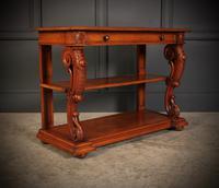 Victorian Oak 3 Tier Console Table (2 of 15)