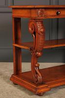 Victorian Oak 3 Tier Console Table (3 of 15)