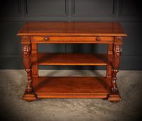 Victorian Oak 3 Tier Console Table (4 of 15)
