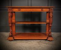Victorian Oak 3 Tier Console Table (5 of 15)