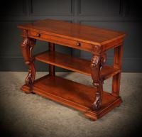 Victorian Oak 3 Tier Console Table (9 of 15)