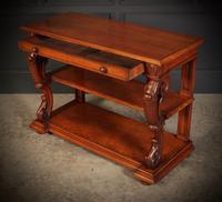 Victorian Oak 3 Tier Console Table (12 of 15)