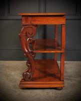 Victorian Oak 3 Tier Console Table (13 of 15)