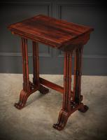 Superb Regency Rosewood Nest of 3 Tables (4 of 19)