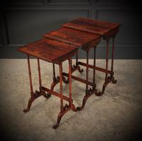 Superb Regency Rosewood Nest of 3 Tables (5 of 19)