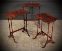 Superb Regency Rosewood Nest of 3 Tables (11 of 19)