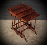 Superb Regency Rosewood Nest of 3 Tables (18 of 19)
