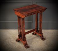Superb Regency Rosewood Nest of 3 Tables (19 of 19)