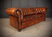 Vintage Buttoned Leather Chesterfield Sofa (2 of 11)