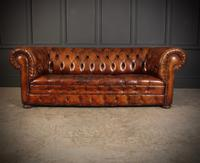 Vintage Buttoned Leather Chesterfield Sofa (3 of 11)