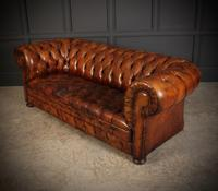 Vintage Buttoned Leather Chesterfield Sofa (5 of 11)
