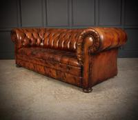 Vintage Buttoned Leather Chesterfield Sofa (6 of 11)