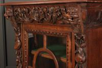 Carved Oak Glazed Cabinet c.1880 (5 of 11)