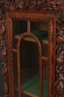 Carved Oak Glazed Cabinet c.1880 (6 of 11)