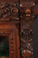Carved Oak Glazed Cabinet c.1880 (11 of 11)