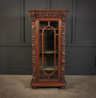 Carved Oak Glazed Cabinet c.1880 (2 of 11)