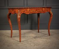 Walnut Marquetry Inlaid Side Table c.1880 (2 of 16)