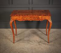 Walnut Marquetry Inlaid Side Table c.1880 (3 of 16)