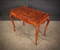 Walnut Marquetry Inlaid Side Table c.1880 (7 of 16)
