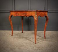 Walnut Marquetry Inlaid Side Table c.1880 (9 of 16)