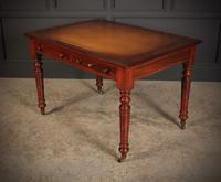 Late Victorian Mahogany Writing Table (7 of 11)