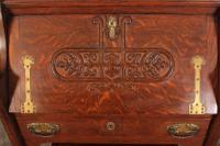 Art Nouveau Oak Bureau (9 of 16)