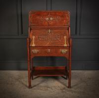 Art Nouveau Oak Bureau (3 of 16)