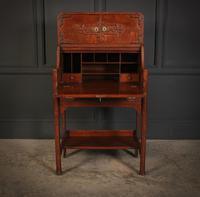 Art Nouveau Oak Bureau (5 of 16)