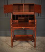 Art Nouveau Oak Bureau (6 of 16)