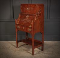Art Nouveau Oak Bureau (10 of 16)