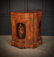 Shaped Walnut Marquetry Inlaid Cabinet (2 of 13)