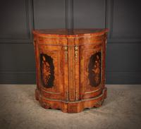 Shaped Walnut Marquetry Inlaid Cabinet (3 of 13)