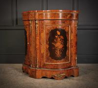 Shaped Walnut Marquetry Inlaid Cabinet (8 of 13)
