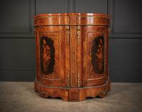 Shaped Walnut Marquetry Inlaid Cabinet (13 of 13)