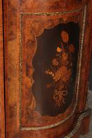 Shaped Walnut Marquetry Inlaid Cabinet (4 of 13)