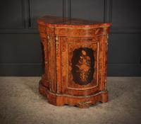 Shaped Walnut Marquetry Inlaid Cabinet (7 of 13)