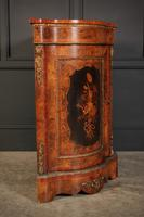 Shaped Walnut Marquetry Inlaid Cabinet (11 of 13)
