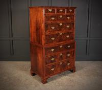 Large Queen Anne Burr Walnut Chest on Chest (3 of 15)
