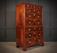 Large Queen Anne Burr Walnut Chest on Chest (2 of 15)